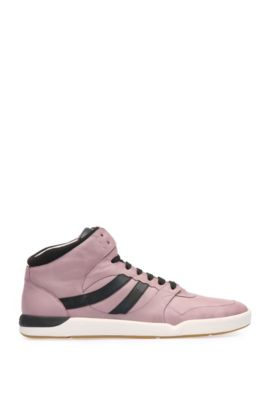Leather High Top Sneaker | Stillnes Hito ltws, light pink
