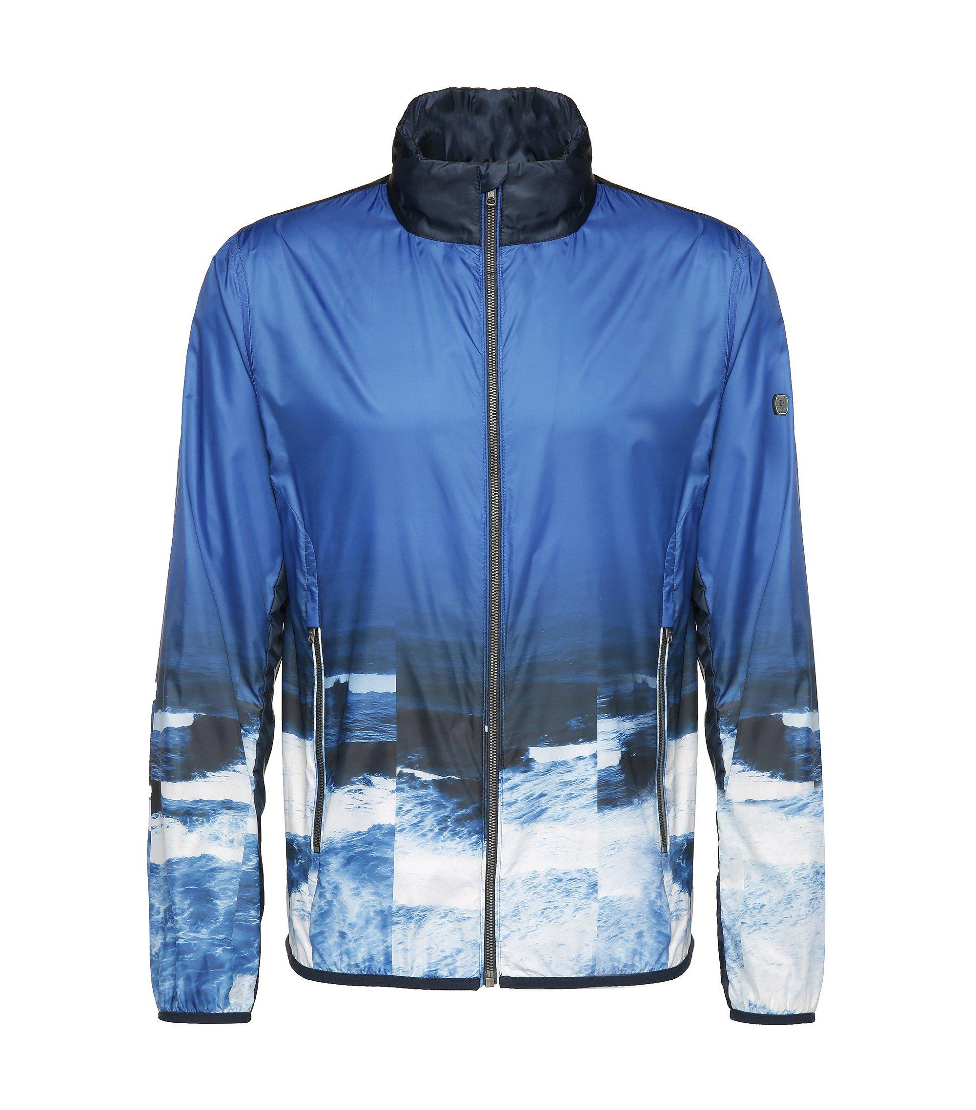 Printed Bomber Jacket | Jocean, Blue