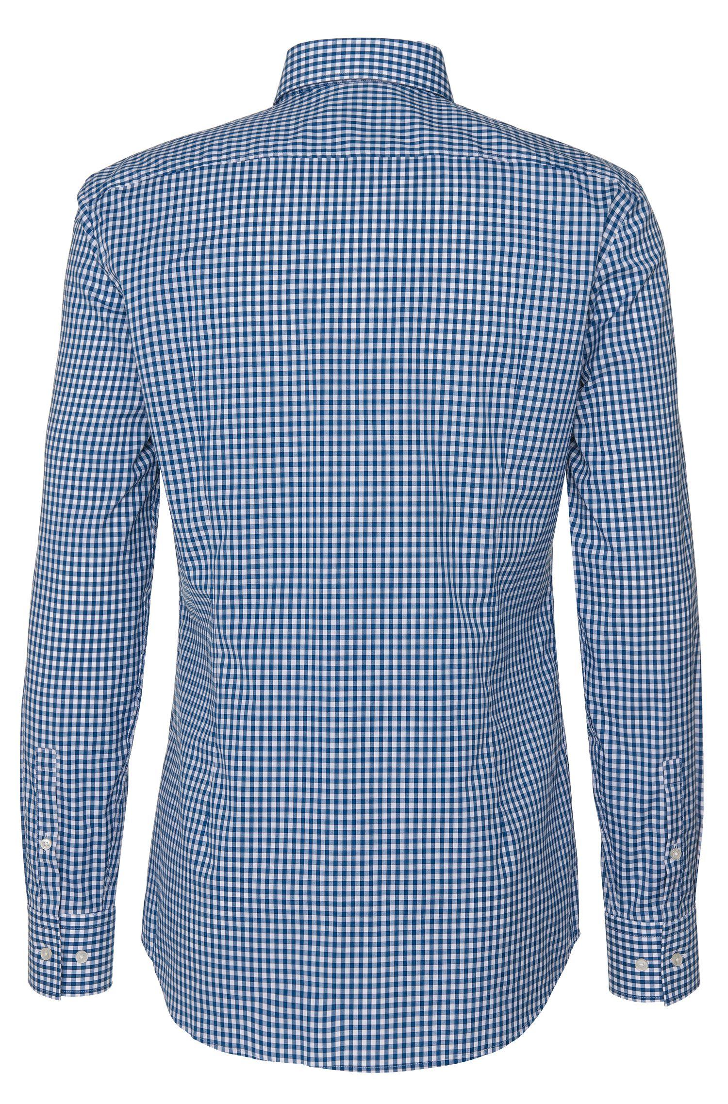 Gingham Cotton Dress Shirt, Slim Fit   Jason