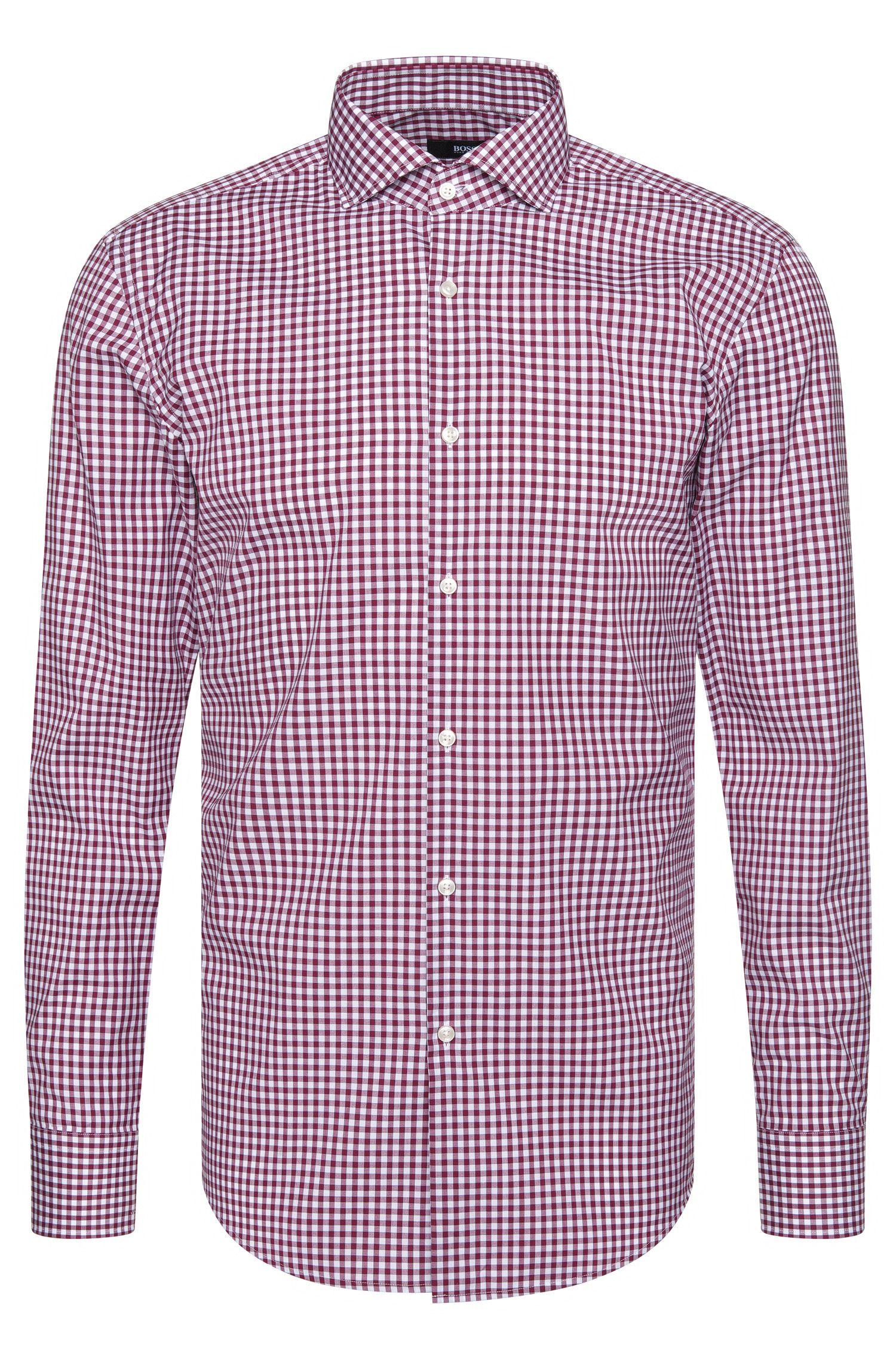 Gingham Cotton Dress Shirt, Slim Fit | Jason