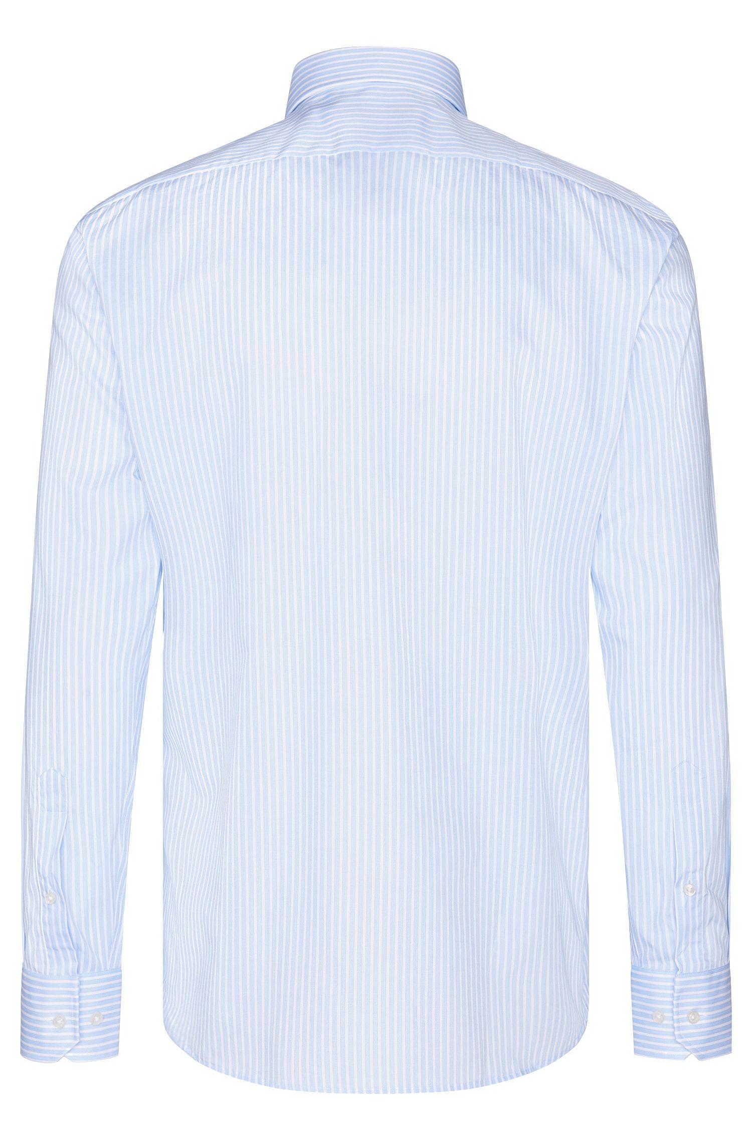 Striped Cotton Dress Shirt, Regular Fit | Enzo