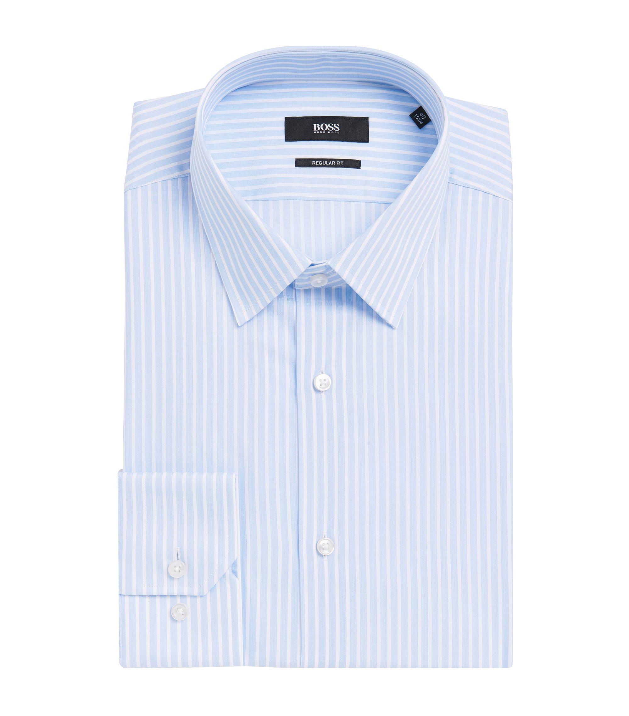 Striped Cotton Dress Shirt, Regular Fit | Enzo, Light Blue