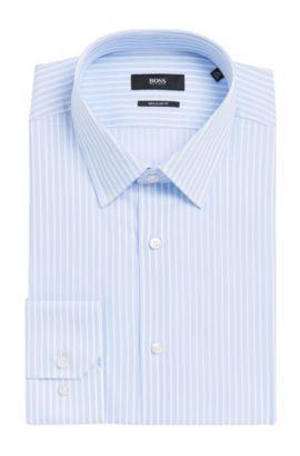 Striped Cotton Dress Shirt, Regular Fit   Enzo, Light Blue
