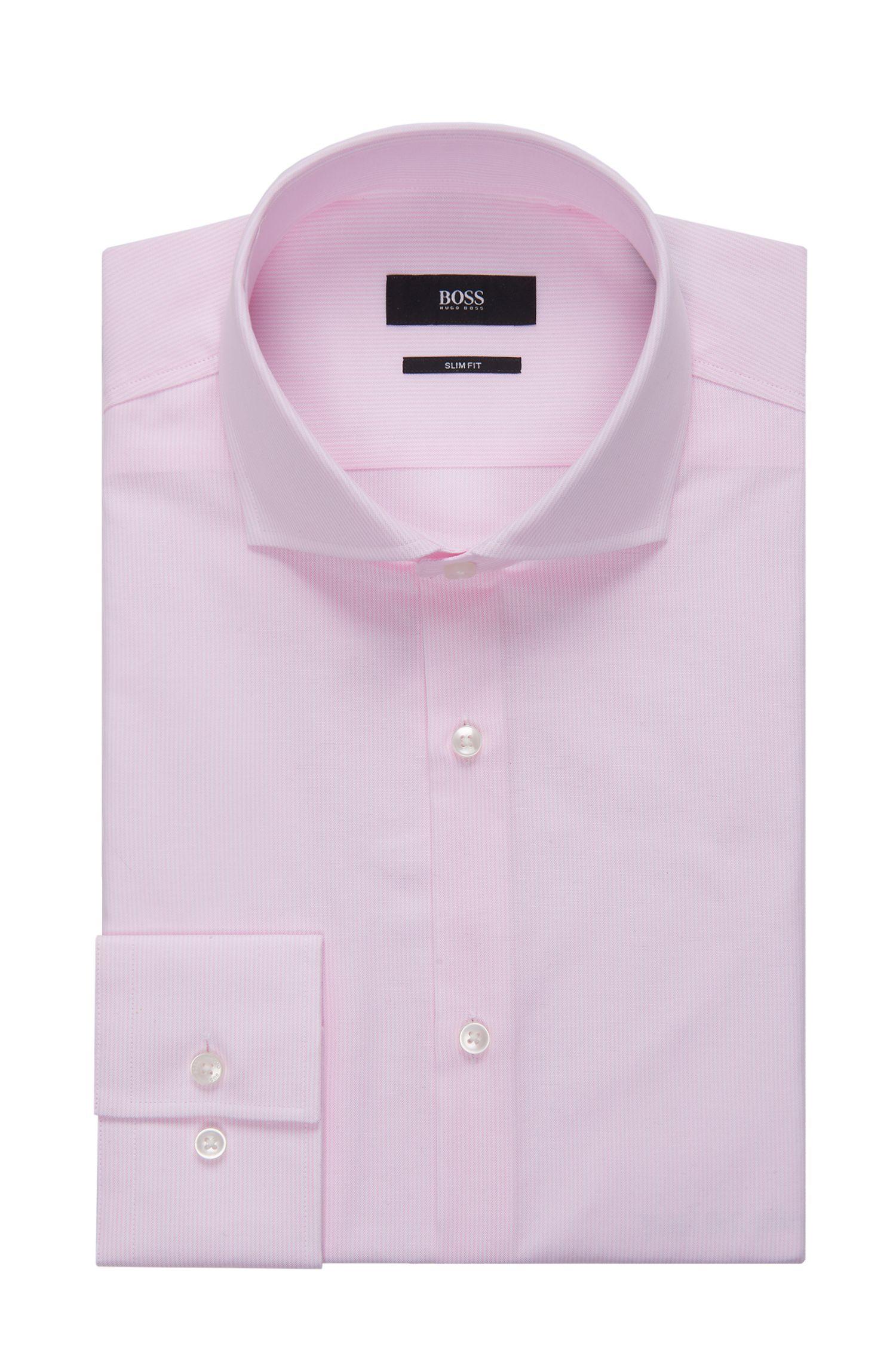 Striped Cotton Patterned Dress Shirt, Slim Fit | Jason