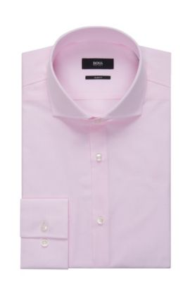Striped Cotton Patterned Dress Shirt, Slim Fit   Jason, light pink