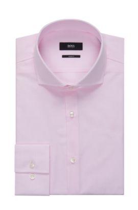 Striped Cotton Patterned Dress Shirt, Slim Fit | Jason, light pink