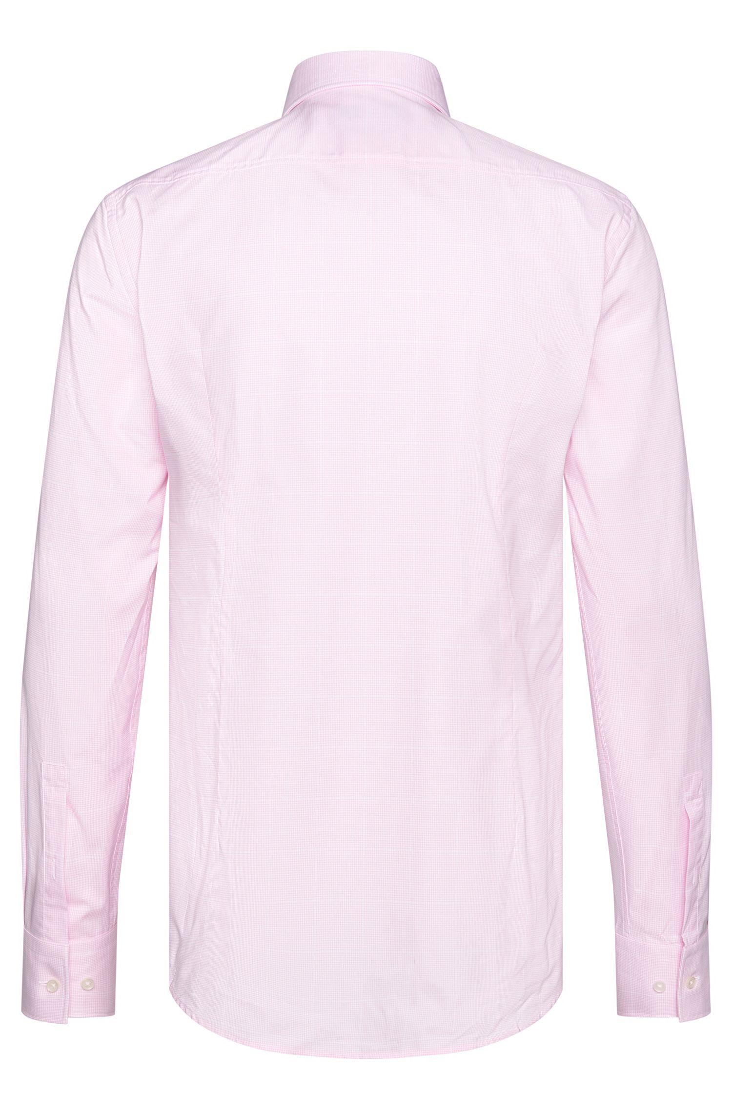Houndstooth Cotton Dress Shirt, Slim Fit| Jason