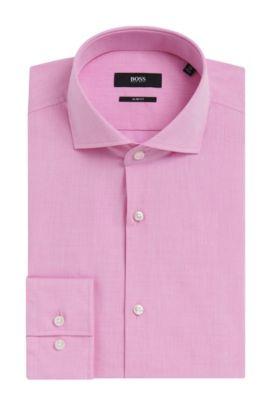 Yarn-Dyed Italian Cotton Dress Shirt, Slim Fit | Jason, light pink