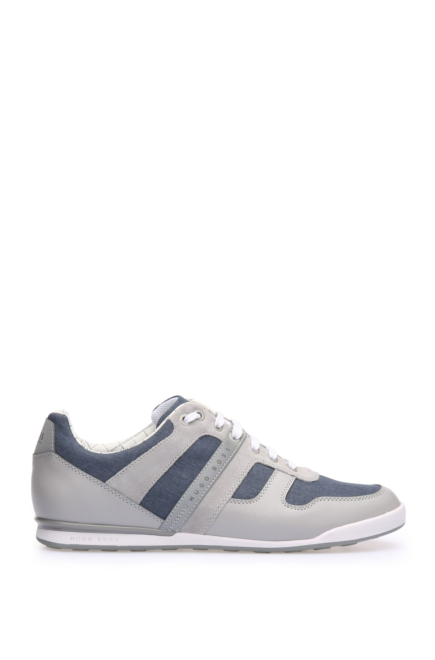 Chambray and Leather Sneaker | Arkansas Lowp Nych
