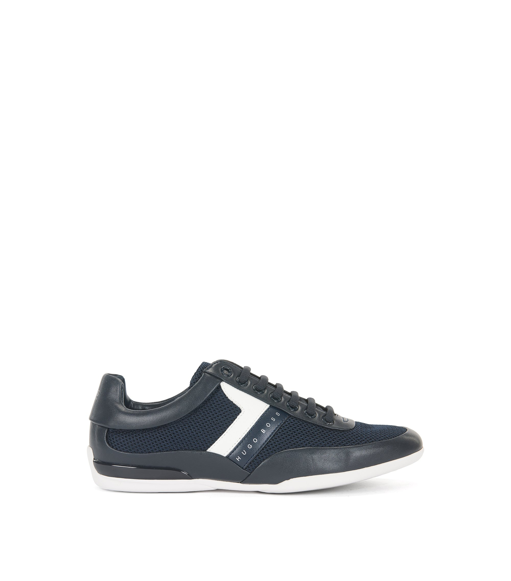 Leather Sneaker | Space Lowp Syme, Dark Blue