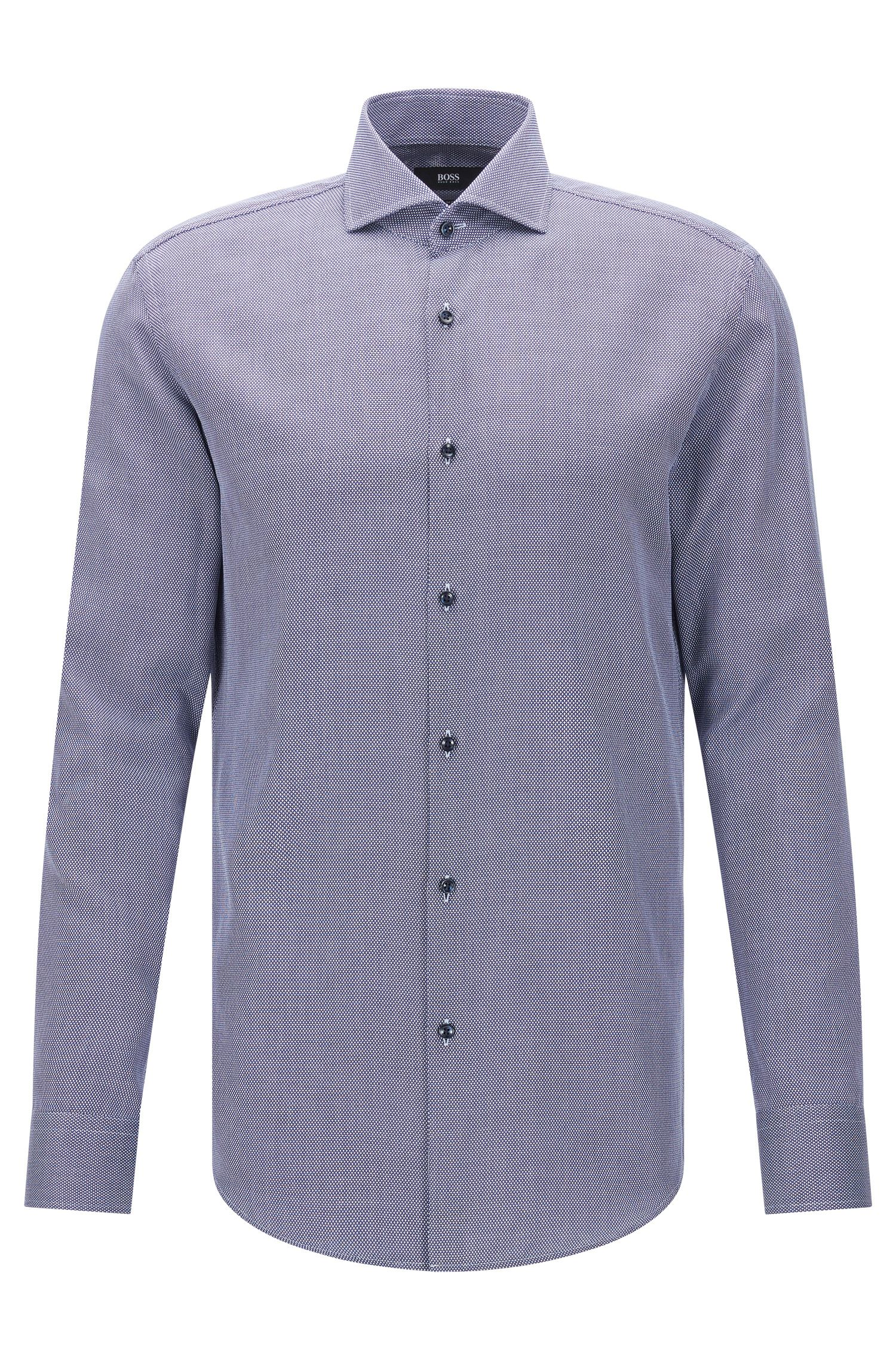 Dobby Cotton Patterned Dress Shirt, Slim Fit | Jason