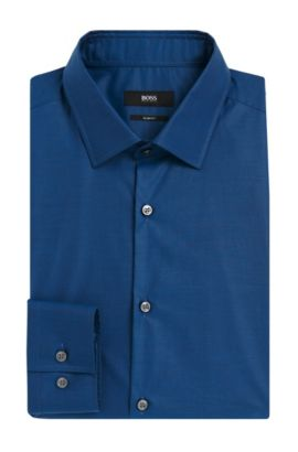 Italian Cotton Dress Shirt, Slim Fit | Jenno  , Turquoise