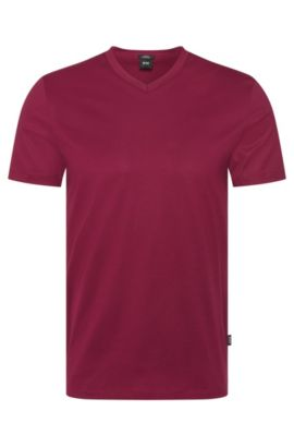 Mercerized Cotton T-Shirt | Teal, Dark Purple