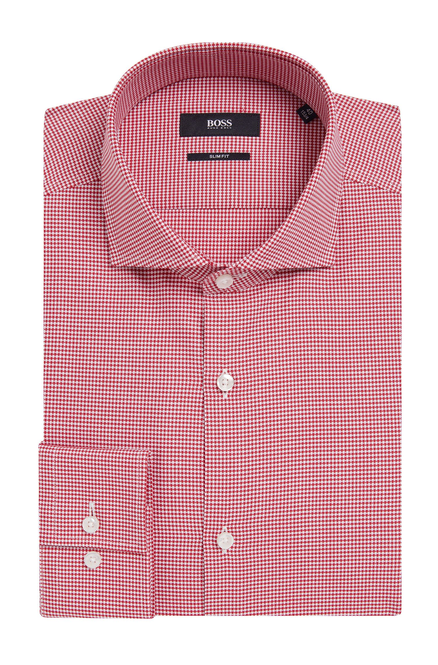 Houndstooth Cotton Dress Shirt, Slim Fit | Jason