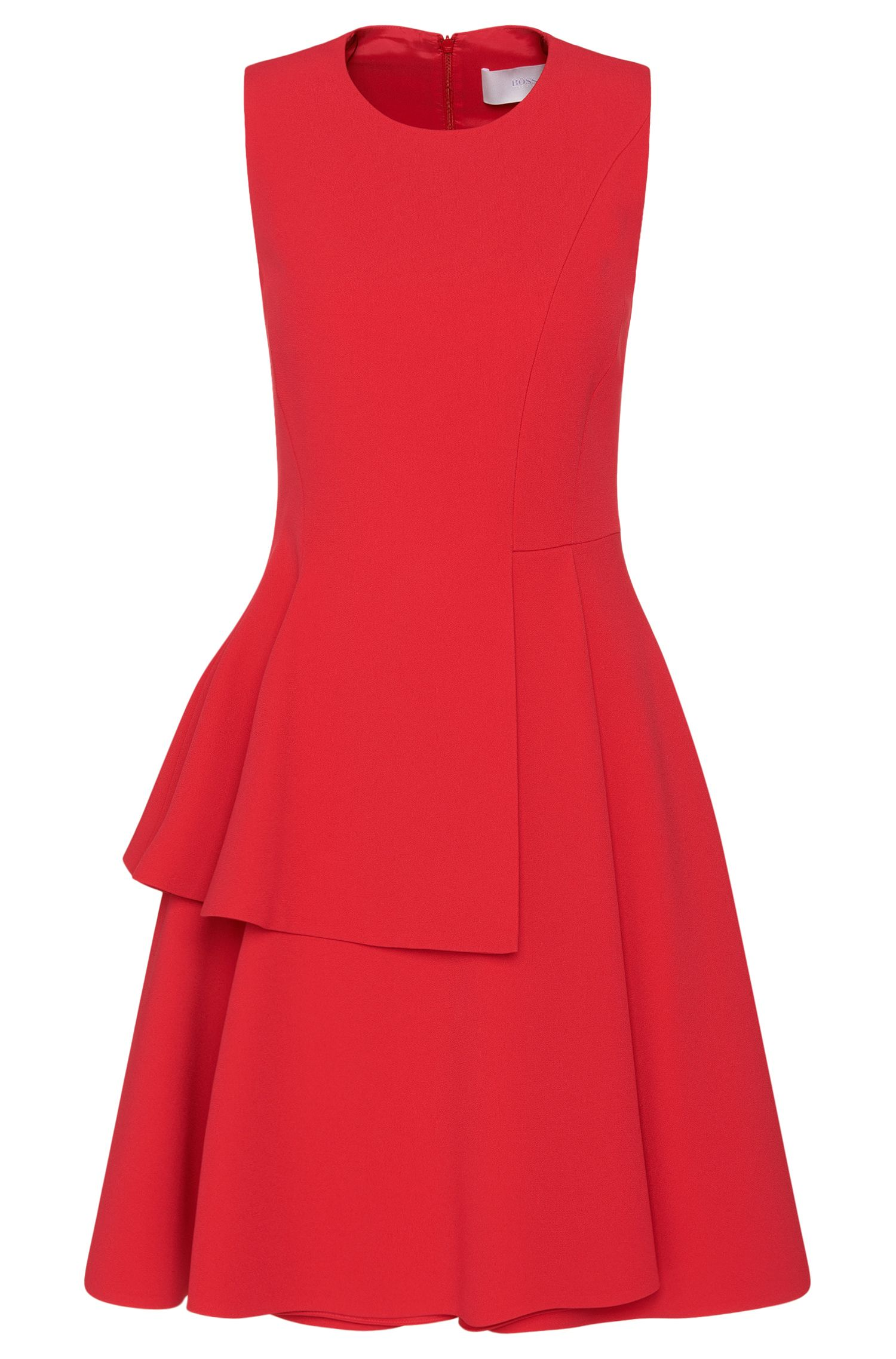 Crepe A-Line Tiered Skirt Dress | Desessy