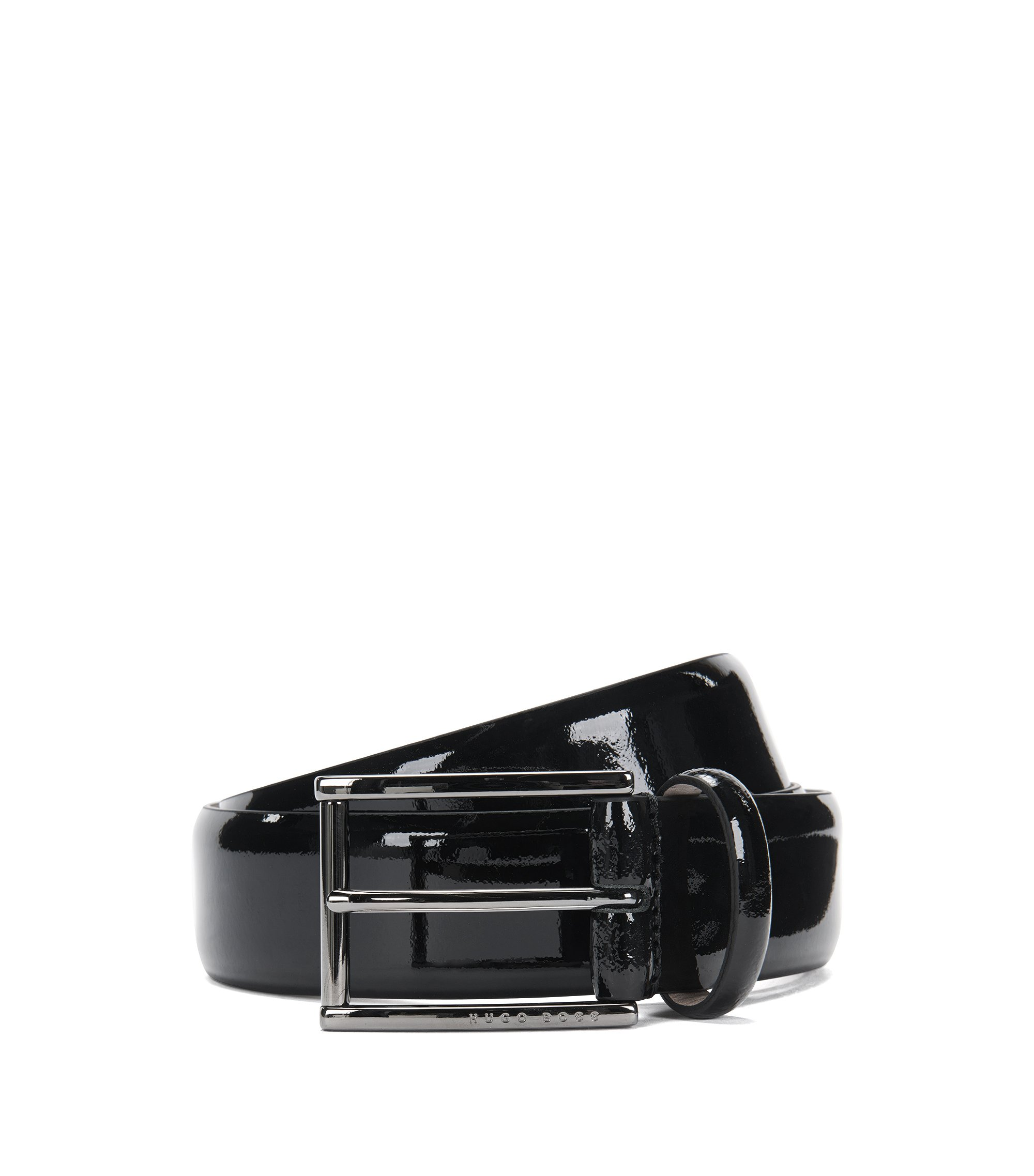 Italian Patent Leather Belt | T-Lelio, Black