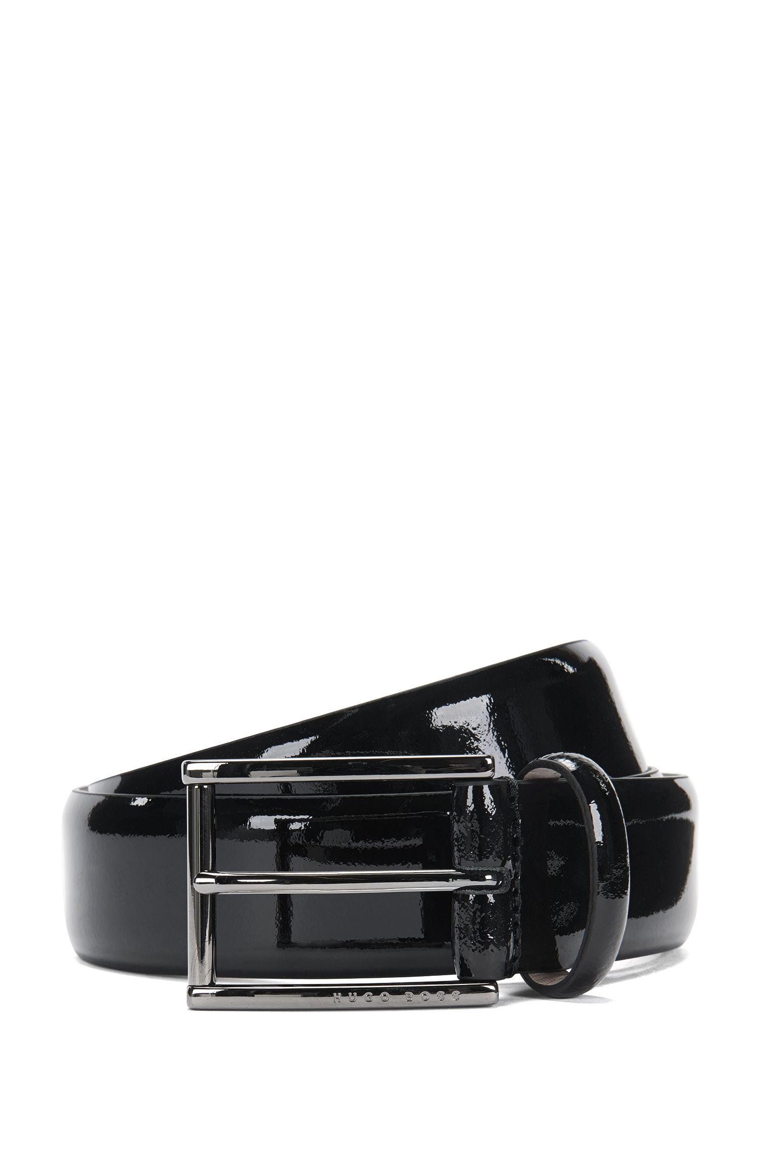 Italian Patent Leather Belt | T-Lelio, Black