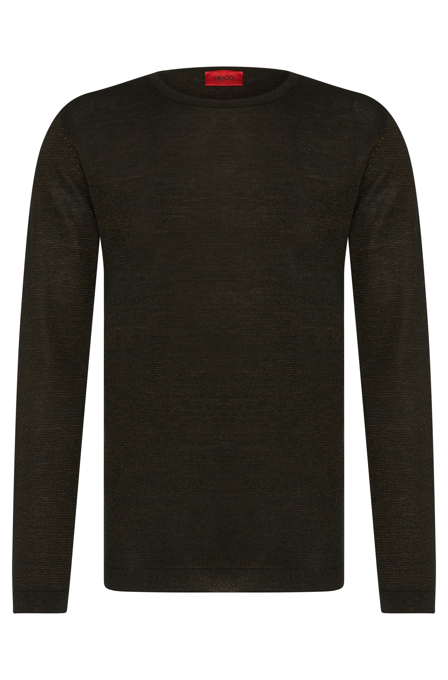 'Salex' | Merino Virgin Wool Blend Metallic Stripe Sweater