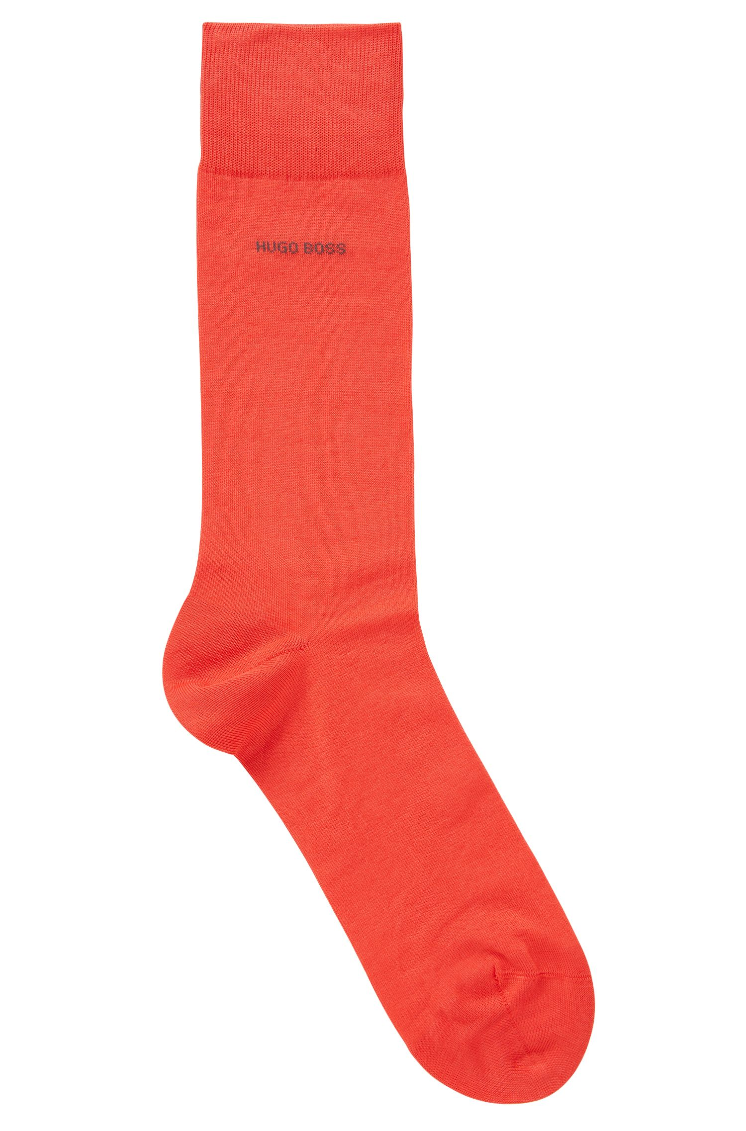 Business socks in mercerized stretch cotton, Red
