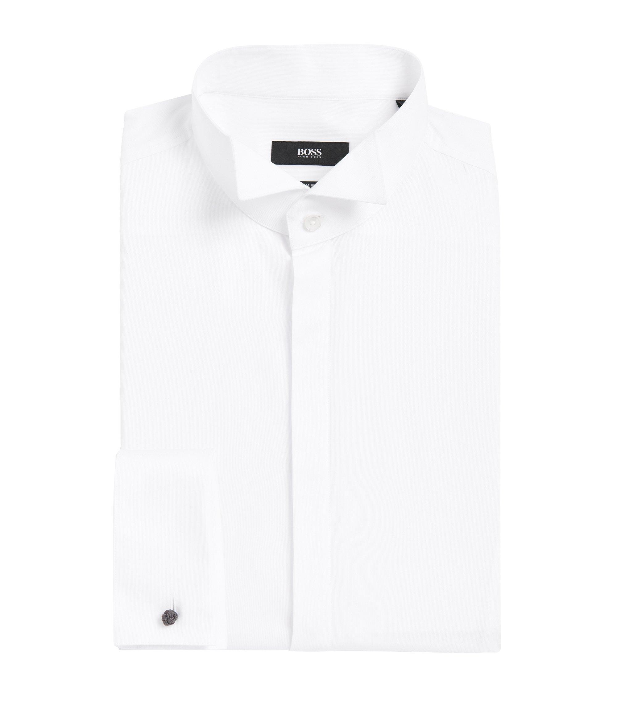 Wingtip Cotton Dress Shirt, Slim Fit | Jillik, White