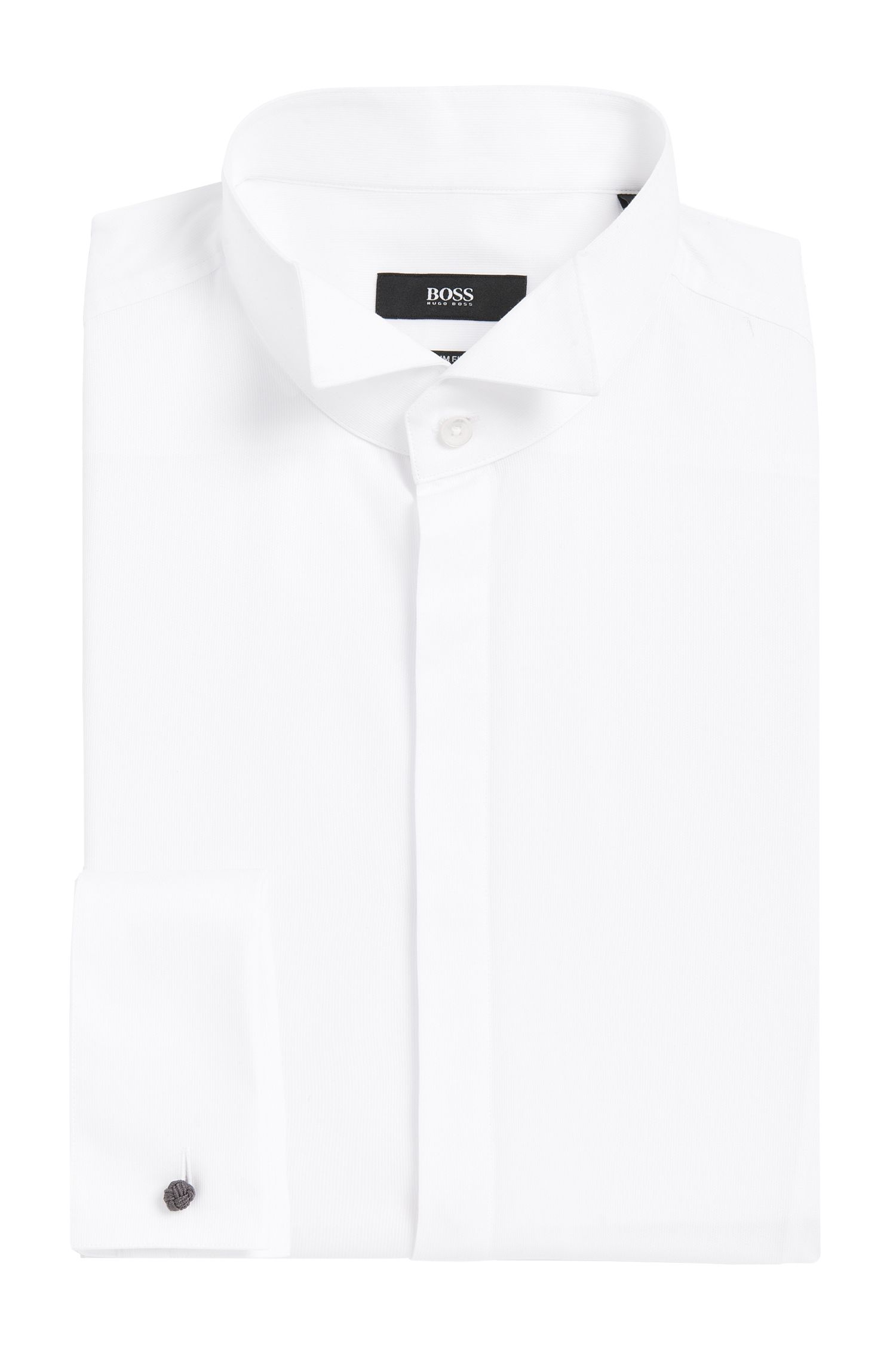Wingtip Cotton Dress Shirt, Slim Fit | Jillik