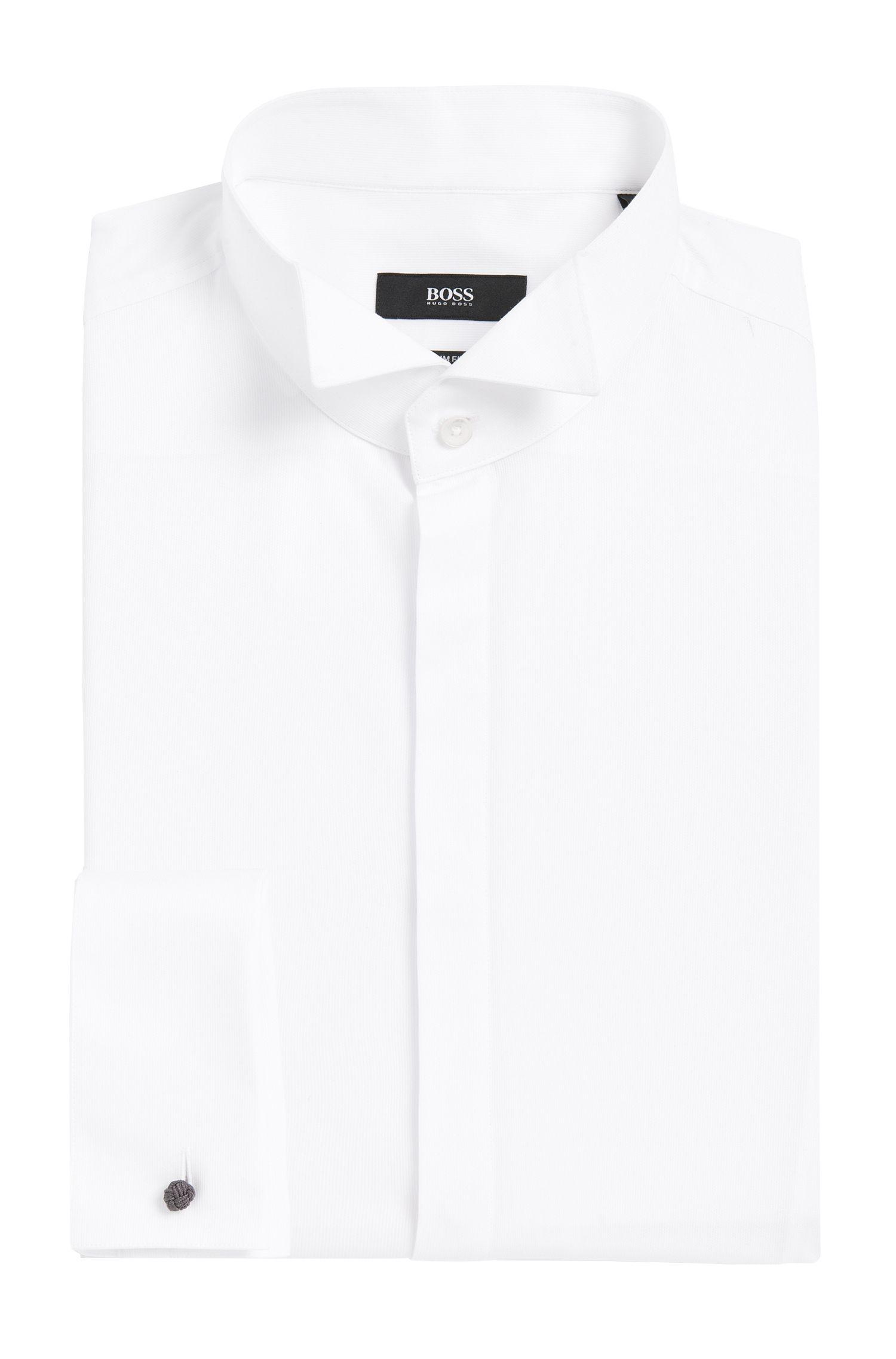 Wingtip Cotton Dress Shirt, Slim Fit | Jillik