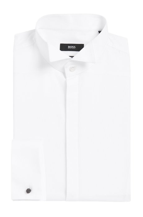 10ae550c2 BOSS - Wingtip Cotton Dress Shirt, Slim Fit | Jillik