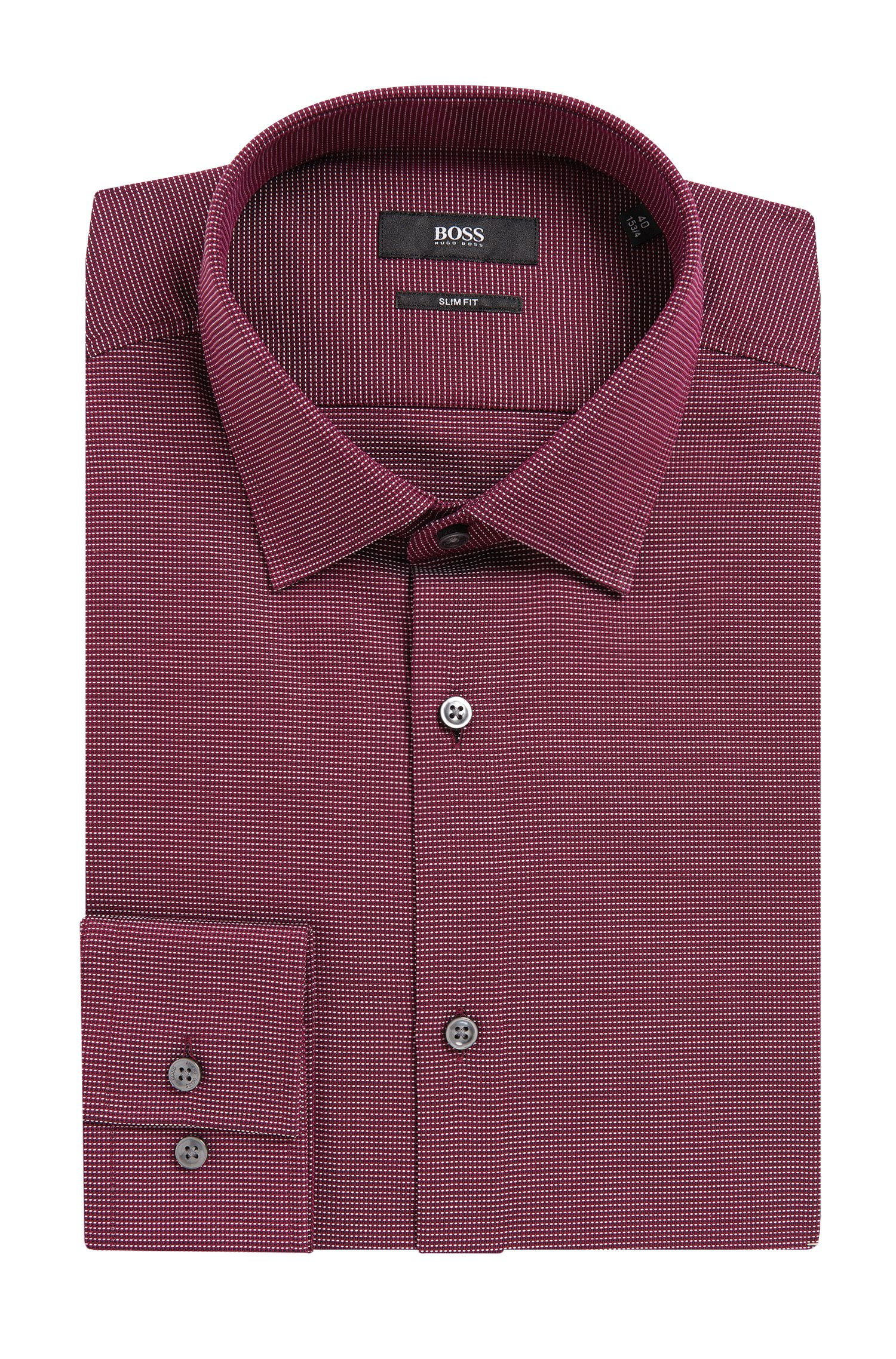 Nailhead Cotton Dress Shirt, Slim Fit | Jenno