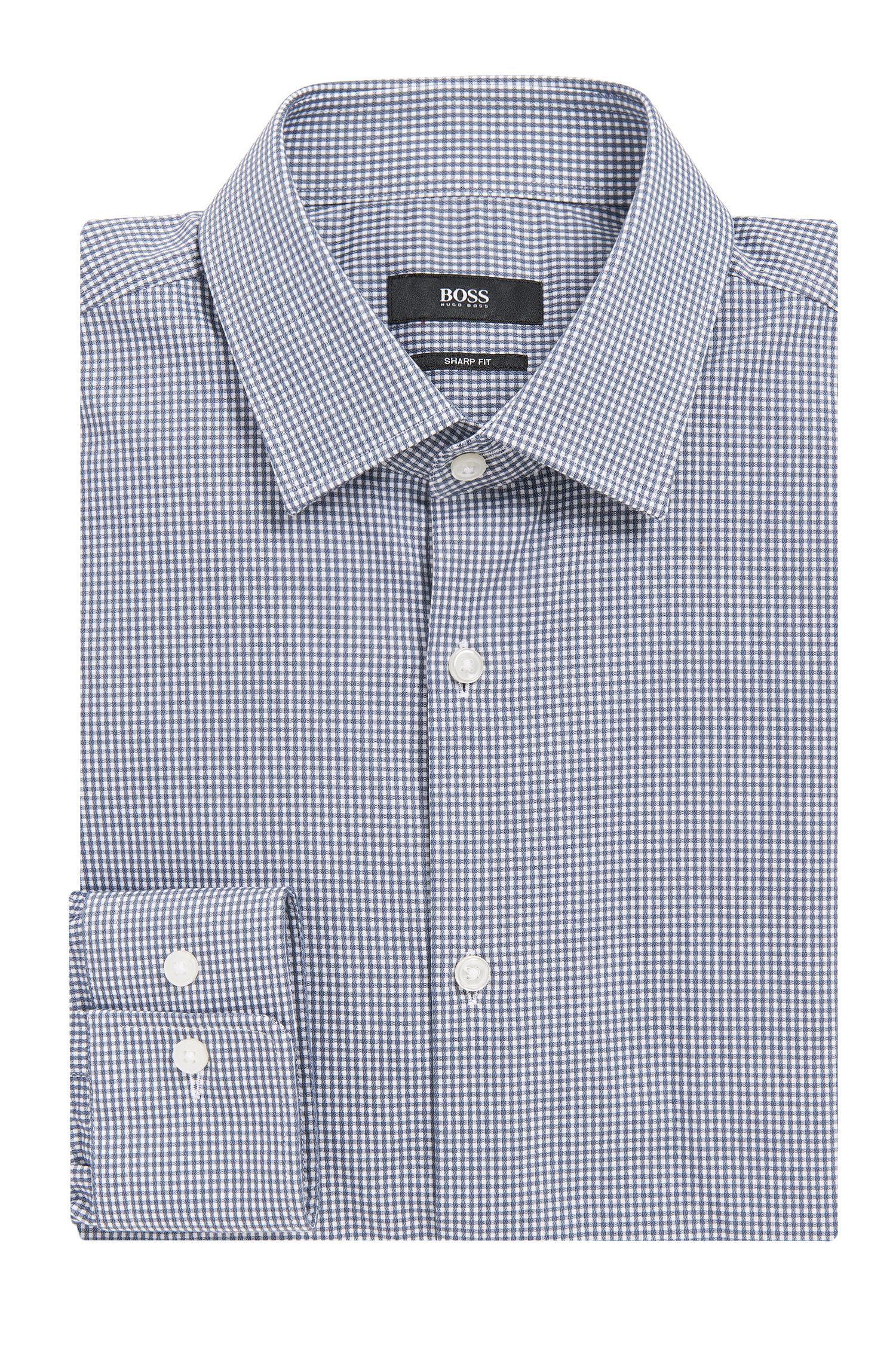 Gingham Cotton Dress Shirt, Sharp Fit | Marley US