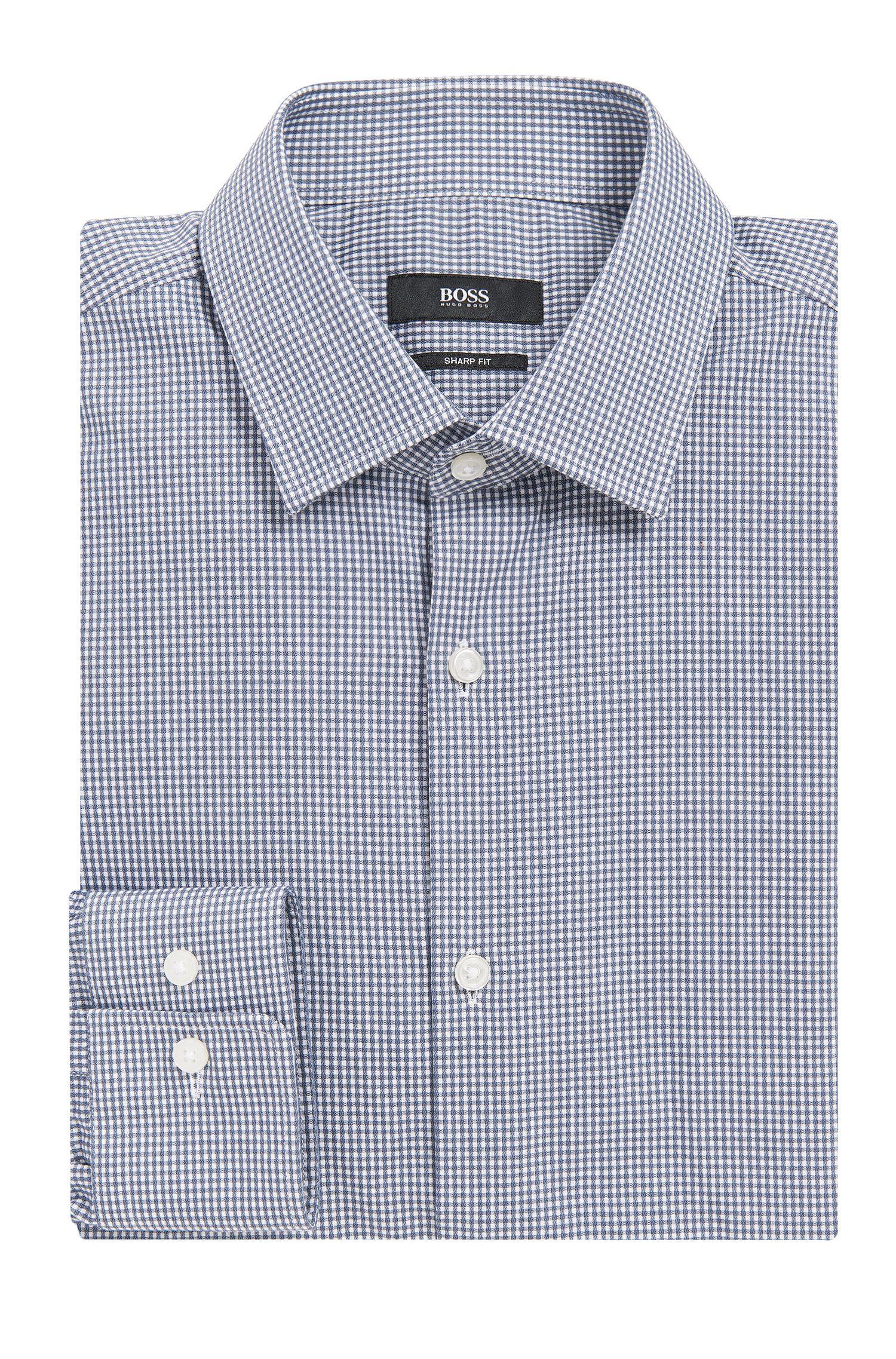 Gingham Cotton Dress Shirt, Sharp Fit | Marley US
