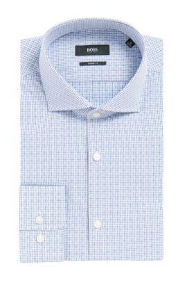 Checked Cotton Dress Shirt, Sharp Fit | Mark US, Blue