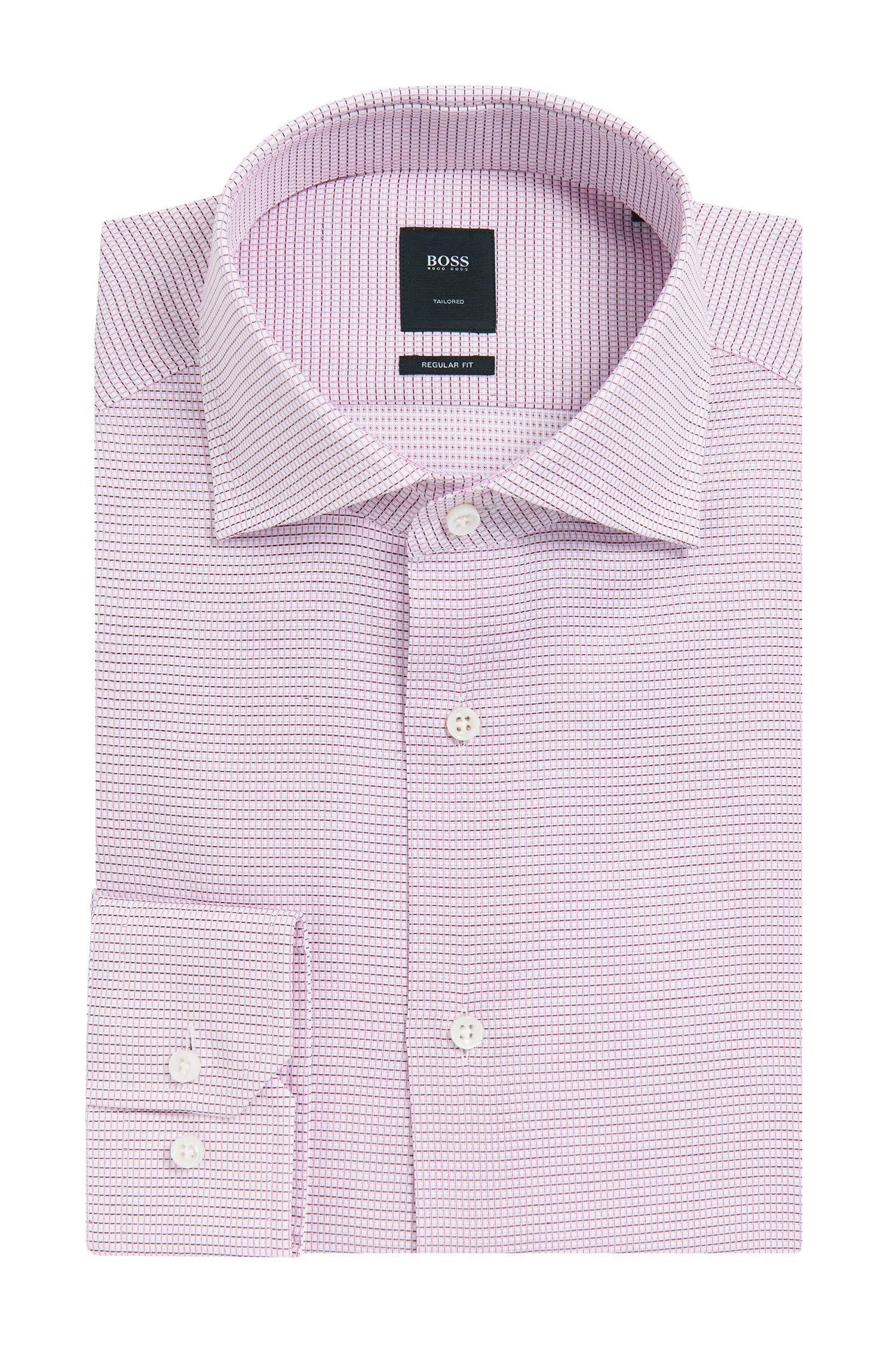 Basketweave Italian Cotton Dress Shirt, Slim Fit | T-Stenson
