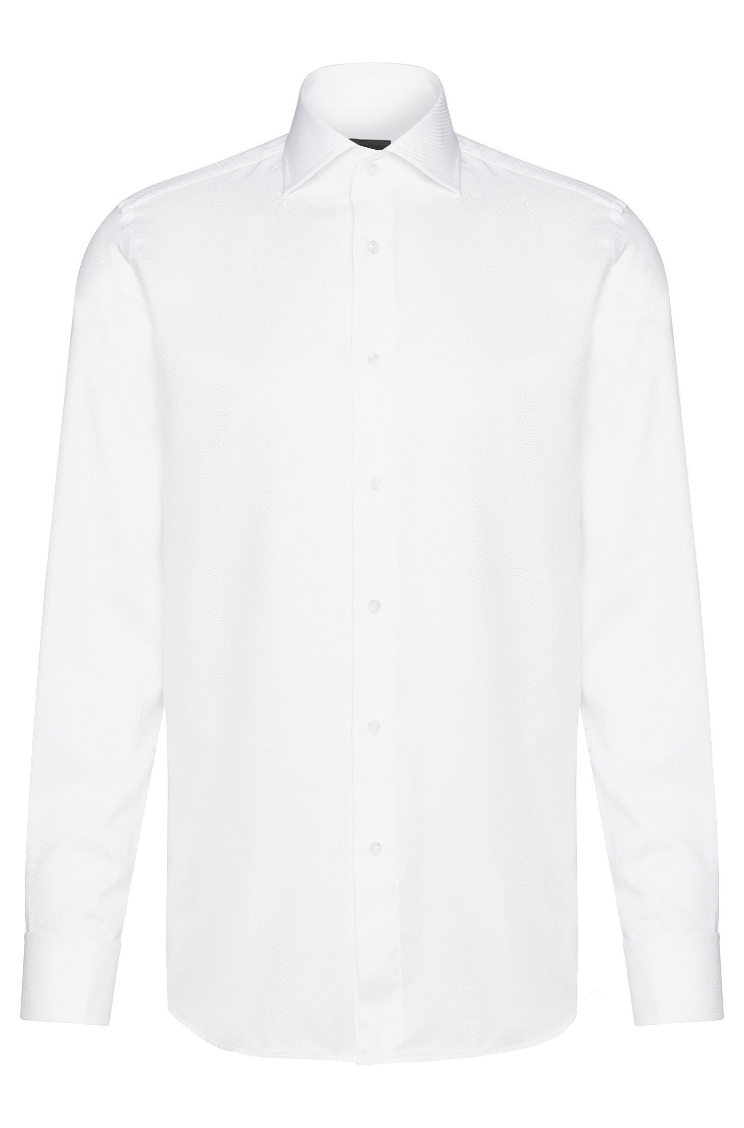 Egyptian Cotton Dress Shirt, Slim Fit | T-Stan, White