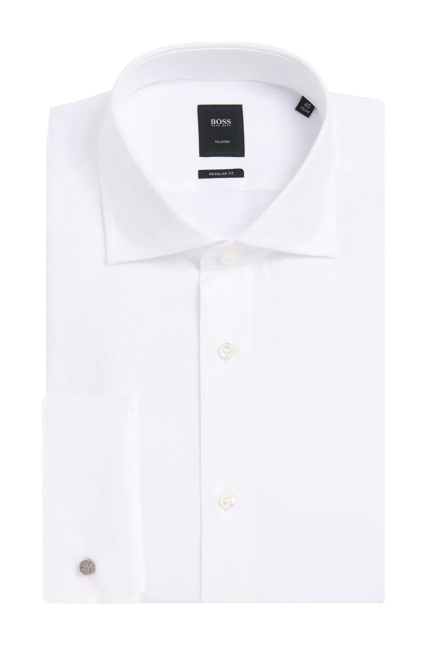 'T-Stan' | Slim Fit, Egyptian Cotton French Cuff Dress Shirt