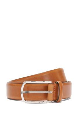 'Celino Sz32 ltpl' | Italian Leather Belt, Brown