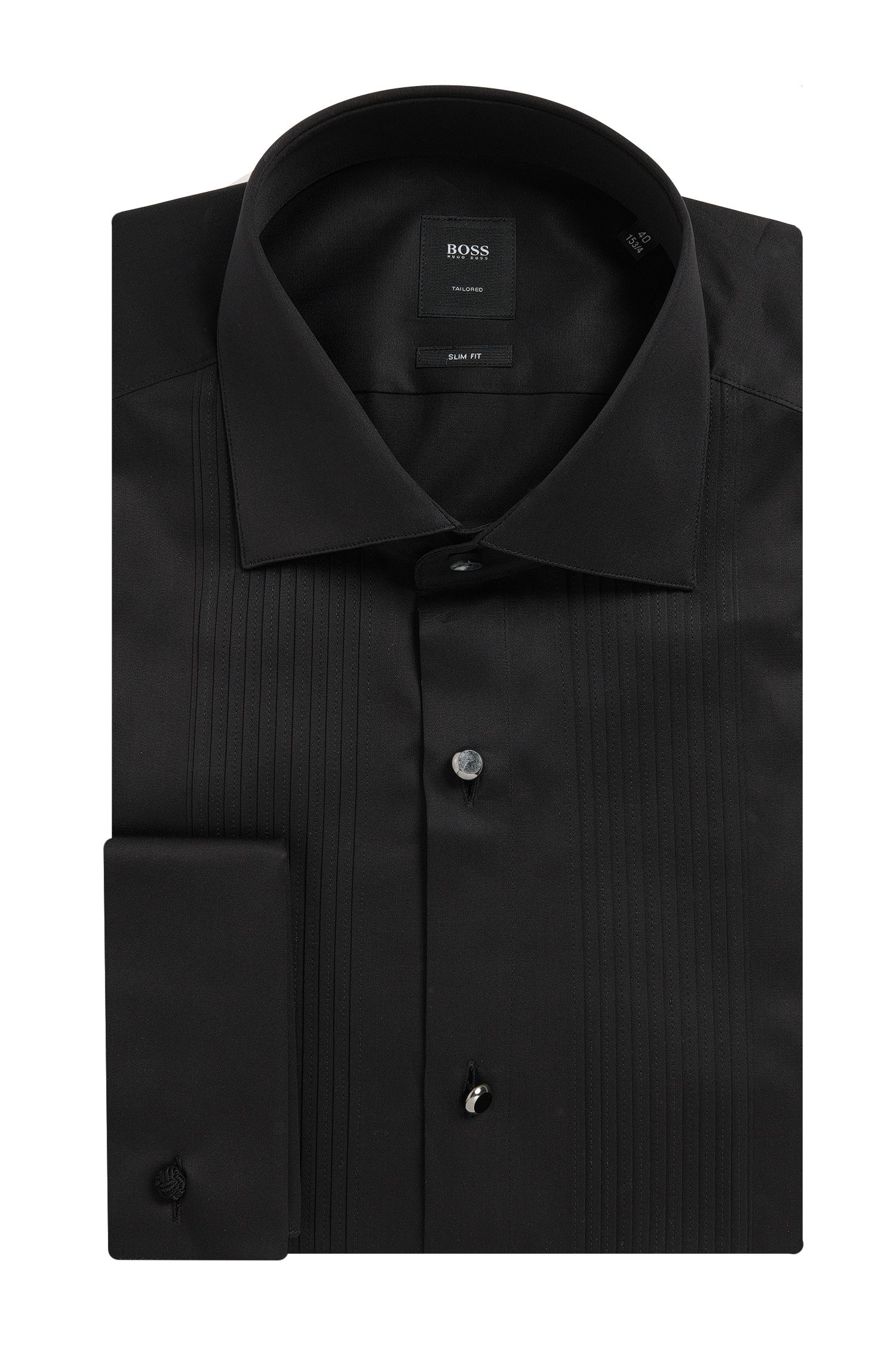 Egyptian Cotton French Cuff Dress Shirt, Slim Fit   T-Cameron