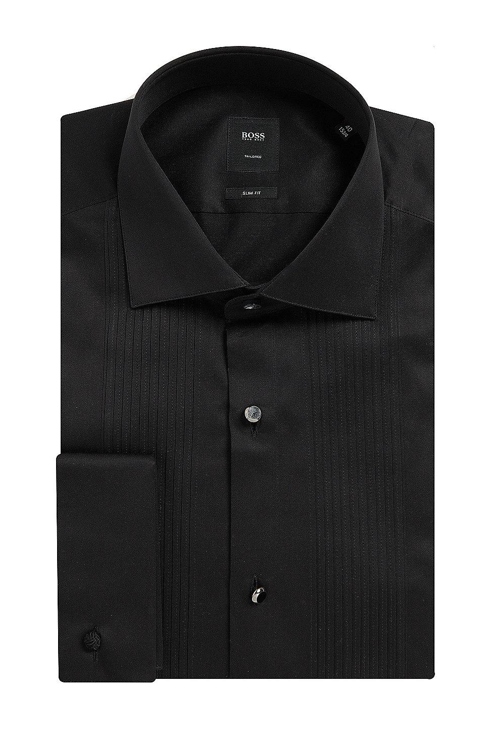 Boss Egyptian Cotton French Cuff Dress Shirt Slim Fit