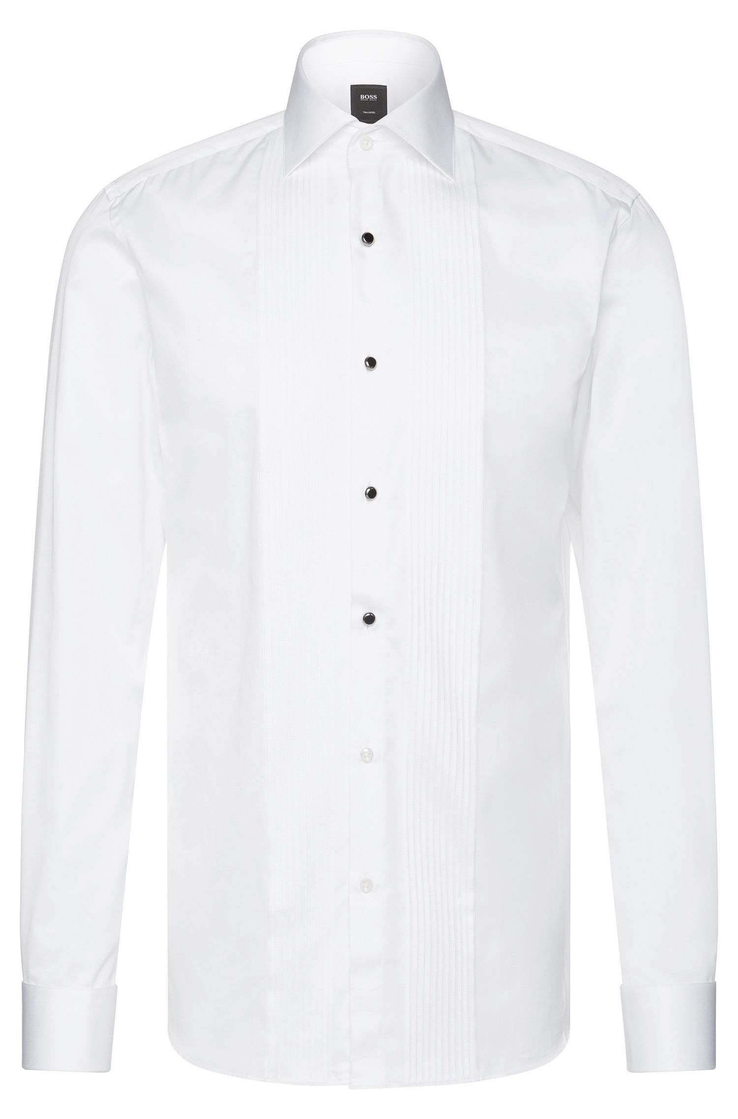 Egyptian Cotton French Cuff Dress Shirt, Slim Fit | T-Cameron, White