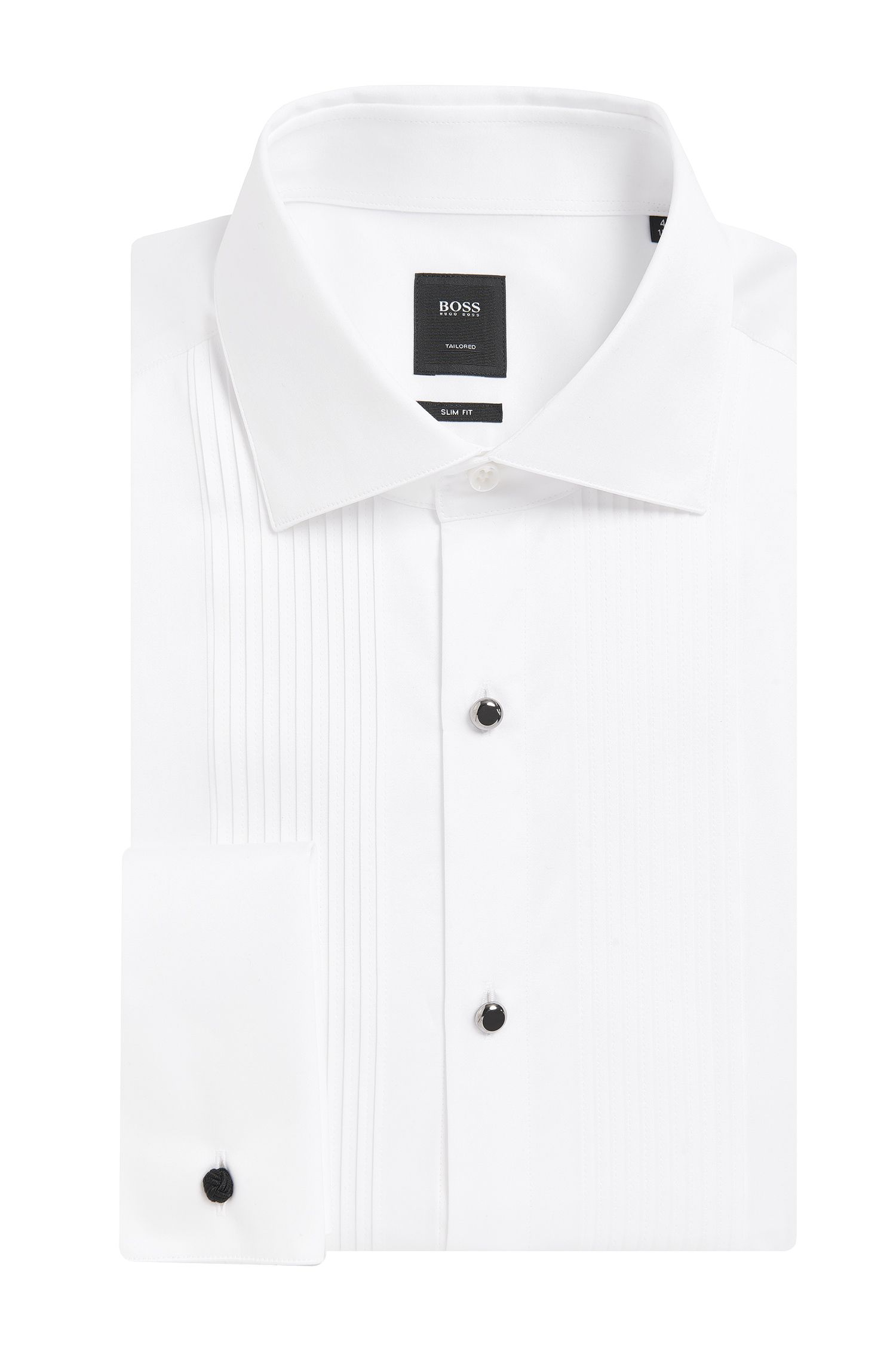 Egyptian Cotton French Cuff Dress Shirt, Slim Fit | T-Cameron