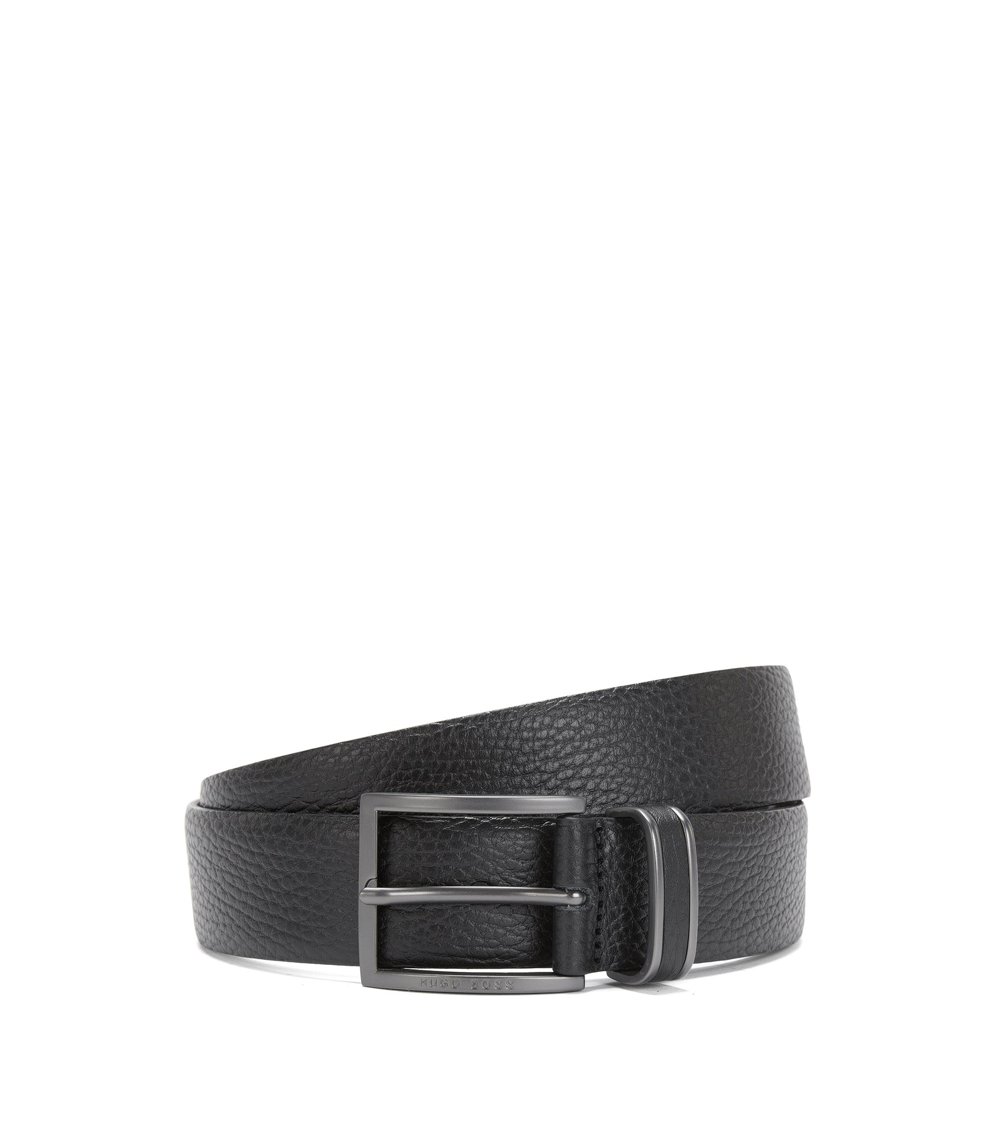 Italian Grained Leather Belt | Sopprin Sz Itgr, Black