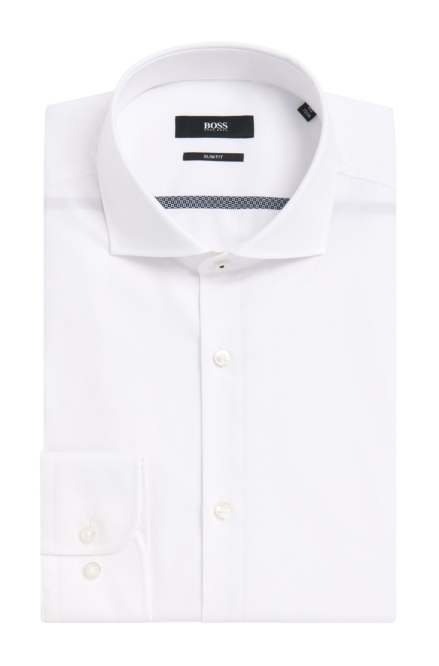 'Jerrin' | Slim Fit, Easy Iron Italian Cotton Dress Shirt
