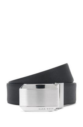 'Otello Or35 Ps'   Reversible Italian Leather Belt, Black