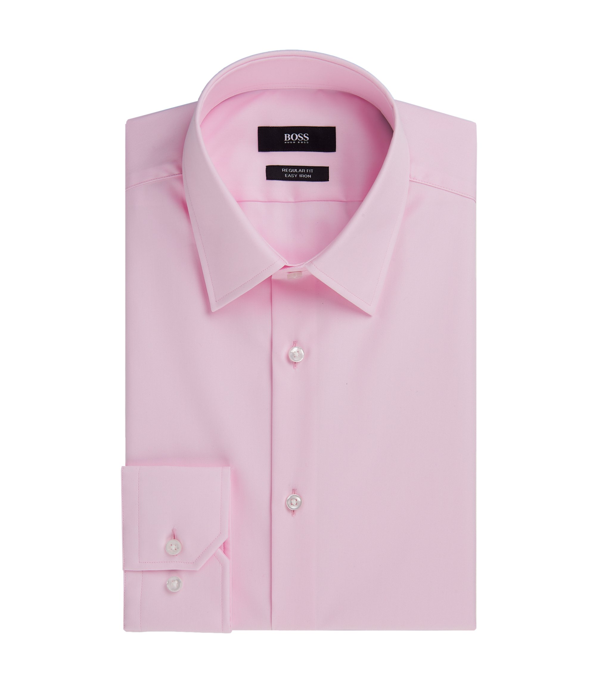 Easy Iron Cotton Dress Shirt, Regular Fit | Enzo, light pink