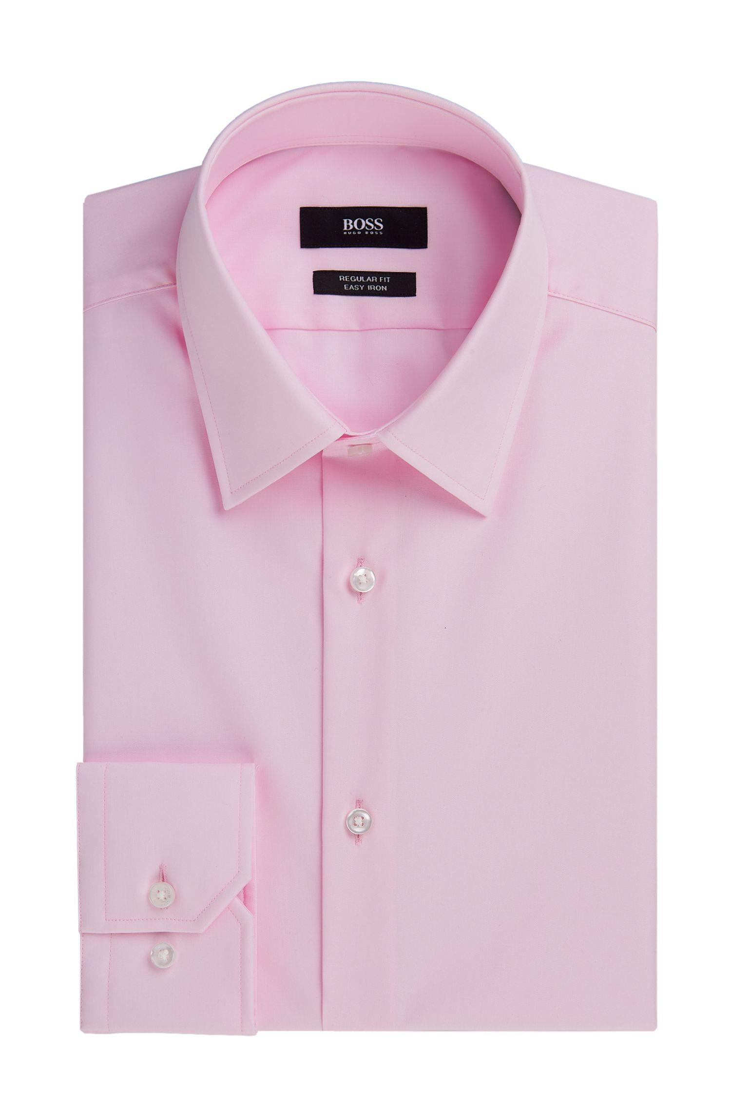 Regular Fit, Easy Iron Cotton Dress Shirt  | 'Enzo'