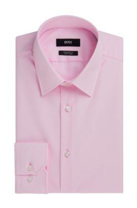Regular Fit, Easy Iron Cotton Dress Shirt  | 'Enzo', light pink