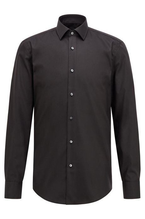 3ae0e11df BOSS - Slim-fit business shirt in cotton poplin