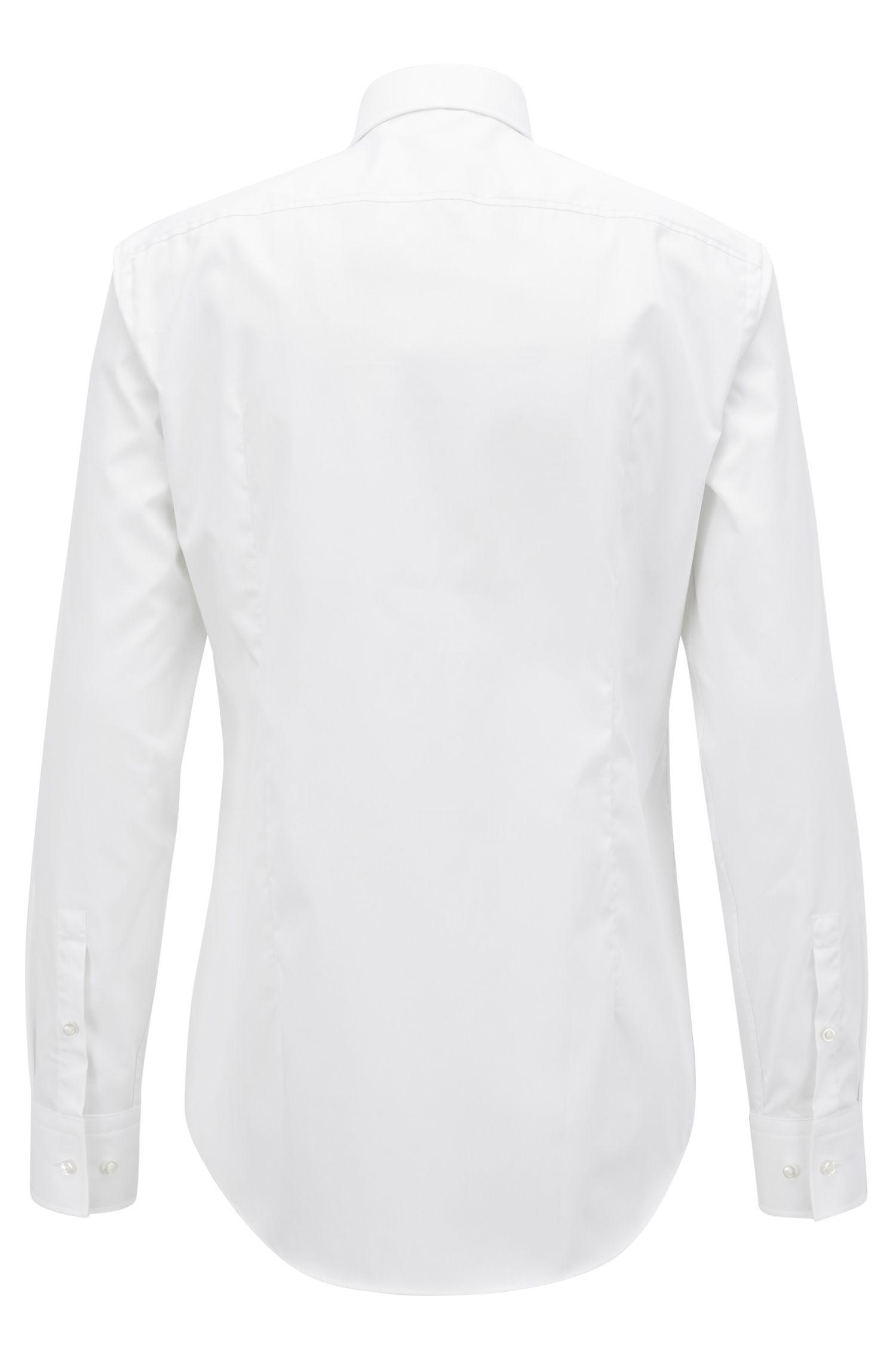 Easy-Iron Italian Cotton Dress Shirt, Slim Fit   Jenno
