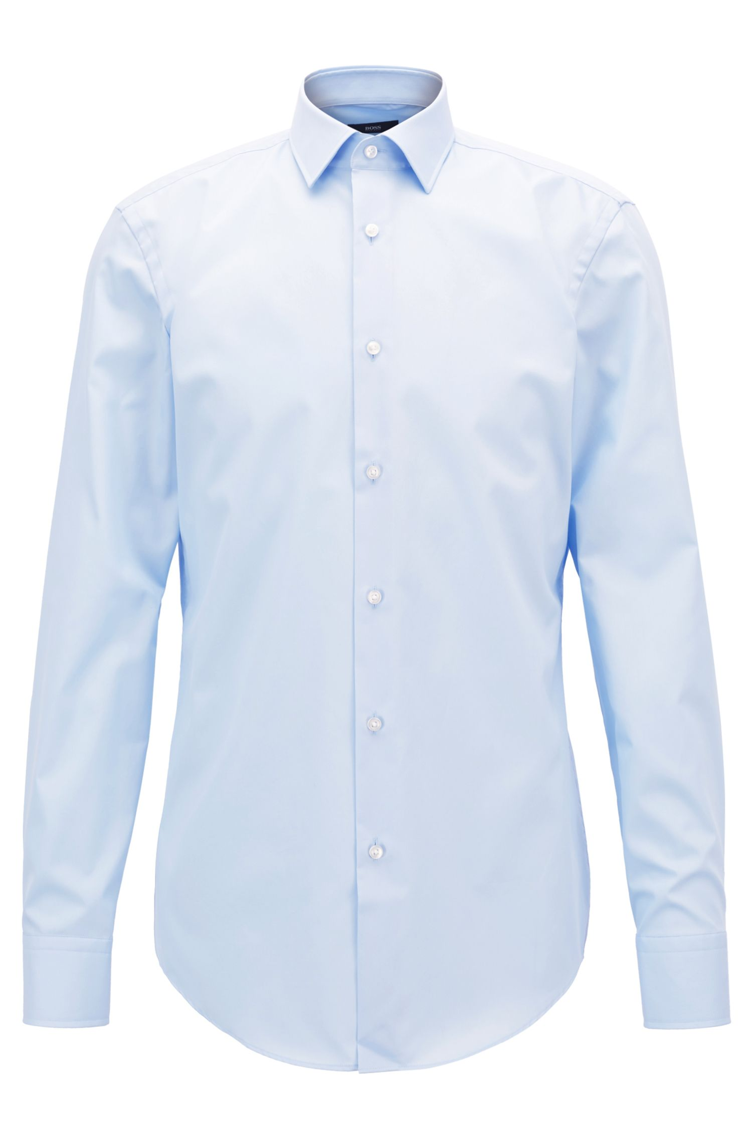 Easy-Iron Italian Cotton Dress Shirt, Slim Fit | Jenno