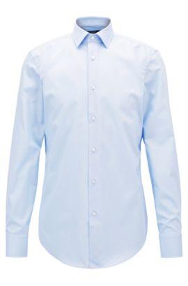 Easy-Iron Italian Cotton Dress Shirt, Slim Fit | Jenno, Light Blue