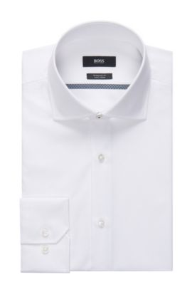 Easy Iron Cotton Dress Shirt, Regular Fit | Gert , Open White